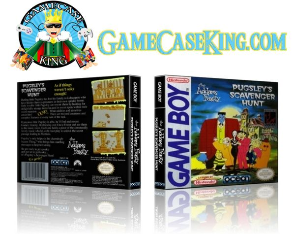 Addam's Family Pugsley's Scavenger Hunt, The Gameboy Game Case