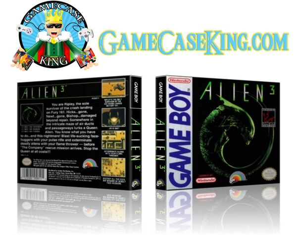 Alien 3 Gameboy Game Case