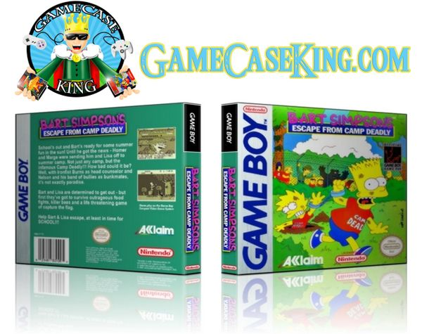 Bart Simpsons Escape from Camp Deadly Gameboy Game Case