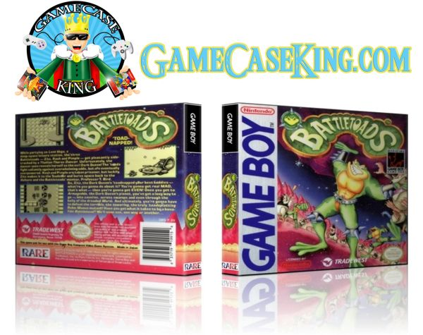 Battletoads Gameboy Game Case