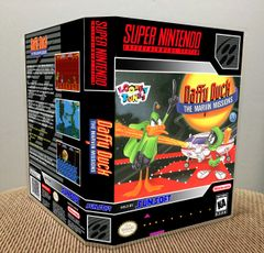 Daffy Duck: The Marvin Missions SNES Game Case with Internal Artwork