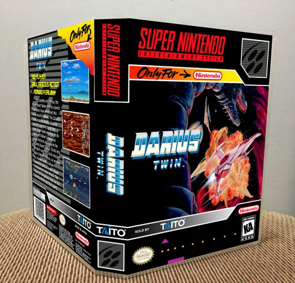 Darius Twin SNES Game Case with Internal Artwork