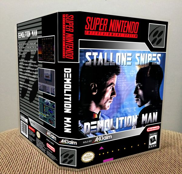 Demolition Man SNES Game Case with Internal Artwork