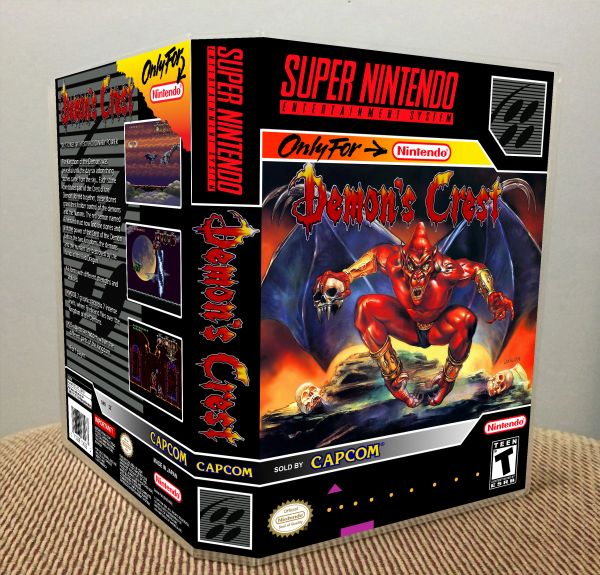 Demon's Crest SNES Game Case with Internal Artwork