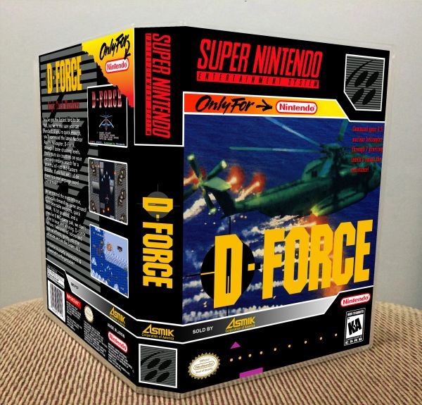 D-Force SNES Game Case with Internal Artwork