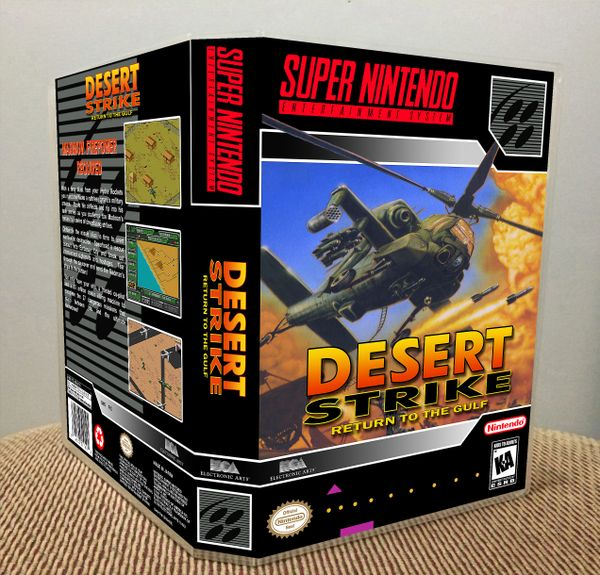 Desert Strike: Return to the Gulf SNES Game Case with Internal Artwork