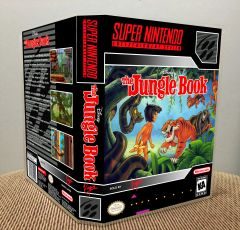 Disney's The Jungle Book SNES Game Case with Internal Artwork