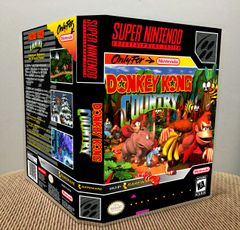 Donkey Kong Country SNES Game Case with Internal Artwork