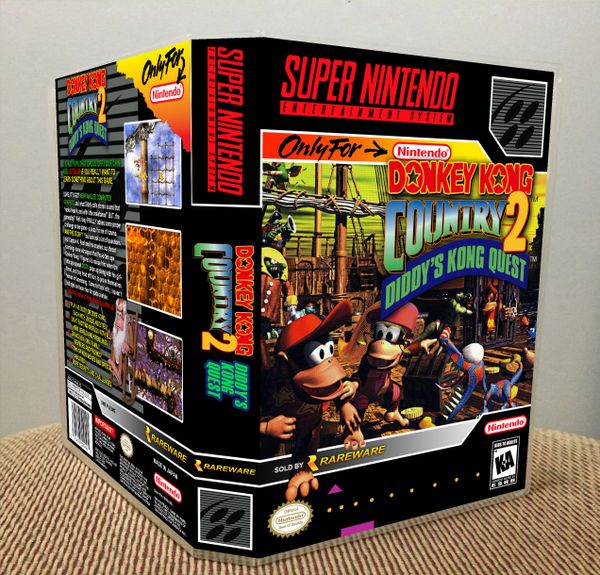 Donkey Kong Country 2: Diddy's Kong Quest SNES Game Case with Internal Artwork