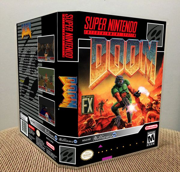 Doom SNES Game Case with Internal Artwork