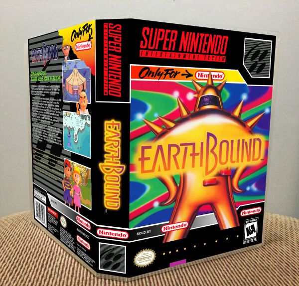 EarthBound SNES Game Case with Internal Artwork