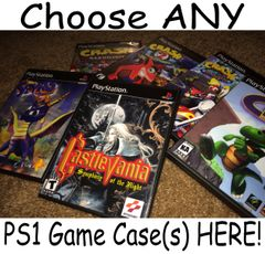 ***Choose ANY Playstation (PS1) Game Case(s) HERE***
