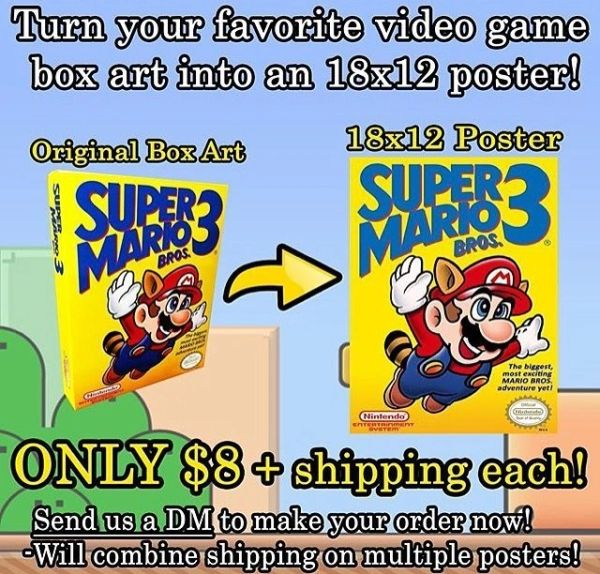 ***Turn your favorite box art into a 18x12 poster!*** Click Here!