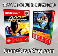 007 The World Is Not Enough N64 Game Case