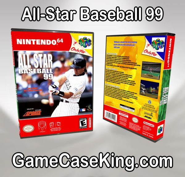 All-Star Baseball 99 N64 Game Case