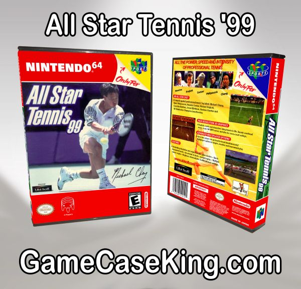 All Star Tennis '99 N64 Game Case