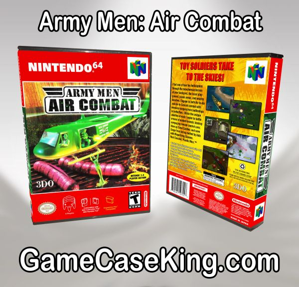 Army Men: Air Combat N64 Game Case