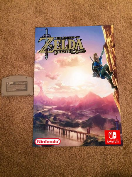 ***LoZ Breath of the Wild Nintendo Switch Poster #3 (18x12 in)*** HOT!