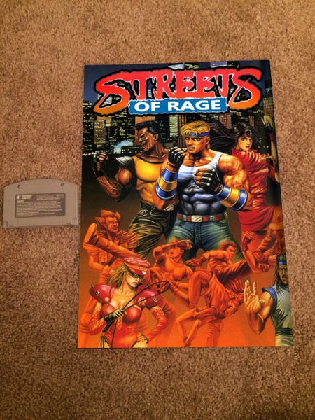 Streets of Rage Poster (18x12 in)