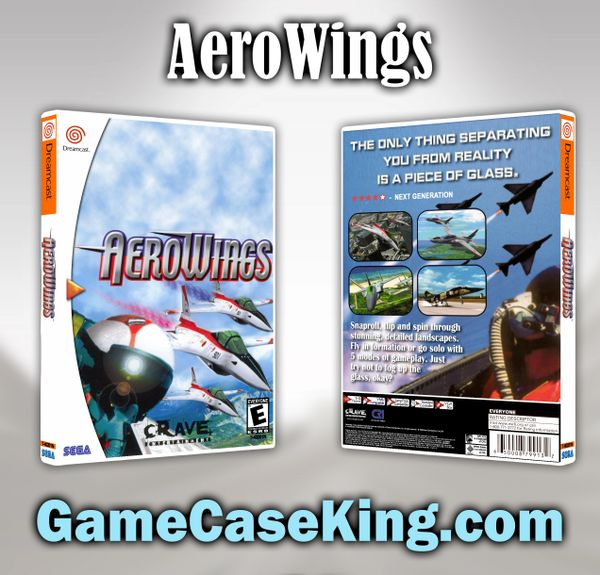 AeroWings Sega Dreamcast Game Case