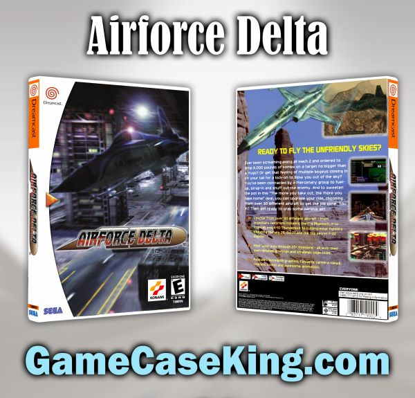 Airforce Delta Sega Dreamcast Game Case