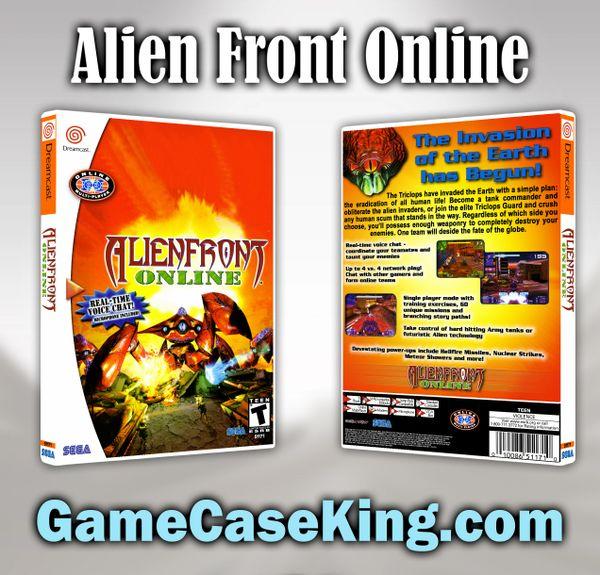 Alien Front Online Sega Dreamcast Game Case