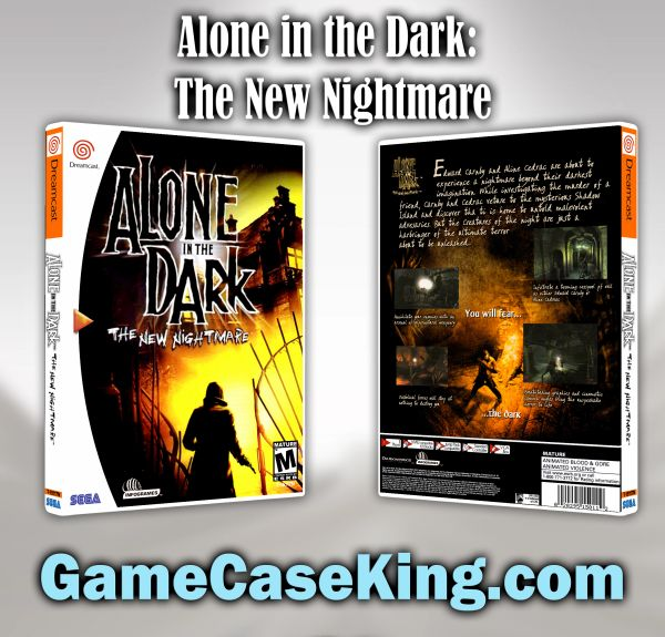 Alone in the Dark: The New Nightmare Sega Dreamcast Game Case