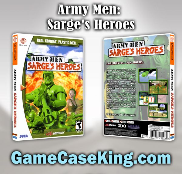 Army Men: Sarge's Heroes Sega Dreamcast Game Case