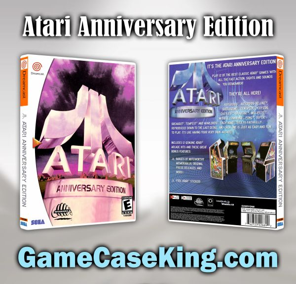 Atari Anniversary Edition Sega Dreamcast Game Case