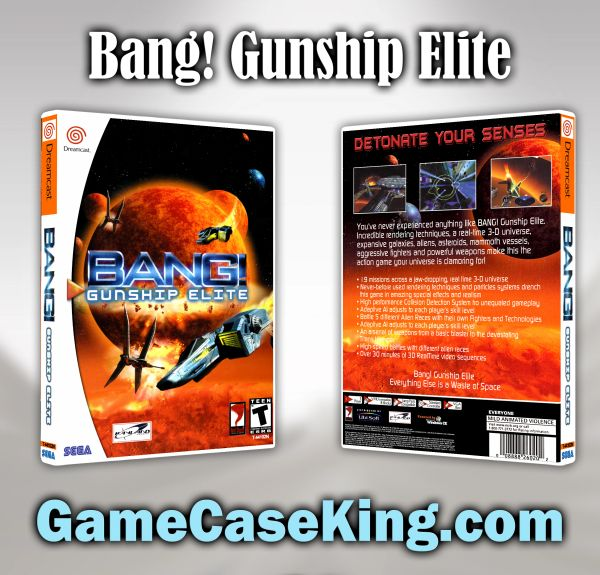 Bang! Gunship Elite Sega Dreamcast Game Case