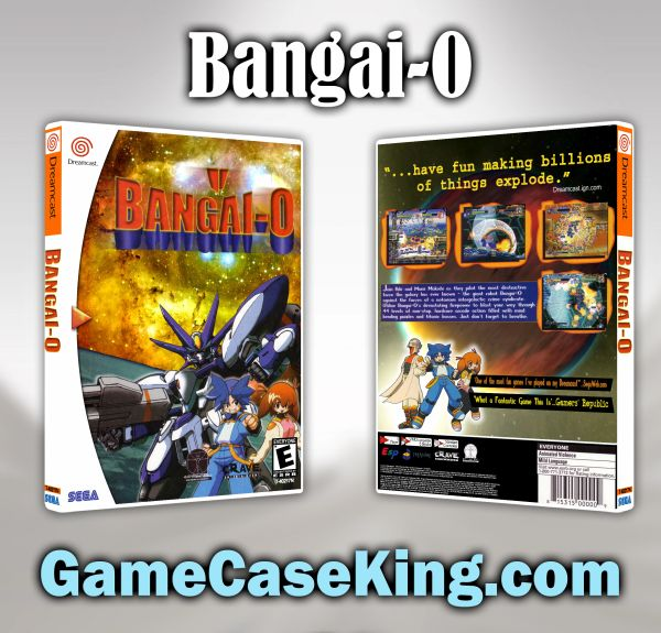 Bangai-O Sega Dreamcast Game Case