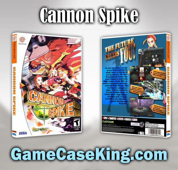 Cannon Spike Sega Dreamcast Game Case