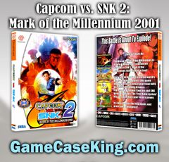 Capcom vs. SNK 2: Millionaire Fighting 2001 Sega Dreamcast Game Case