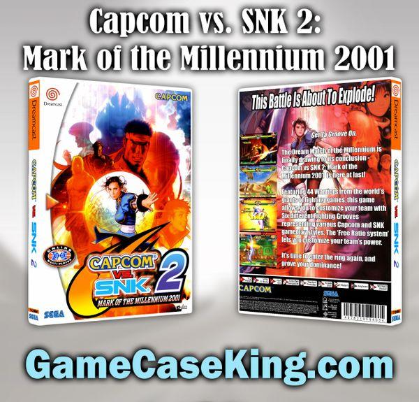 Capcom vs. SNK 2: Millionaire Fighting 2001 Sega Dreamcast Game Case