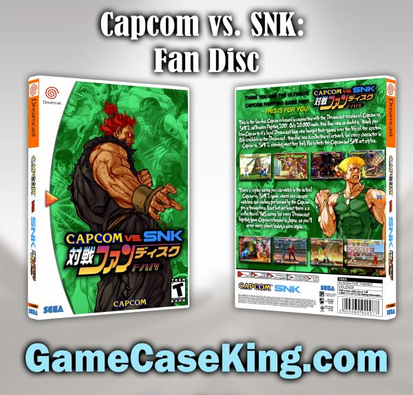 Capcom vs. SNK Fan Disc Sega Dreamcast Game Case