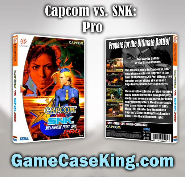 Capcom vs. SNK Pro Sega Dreamcast Game Case