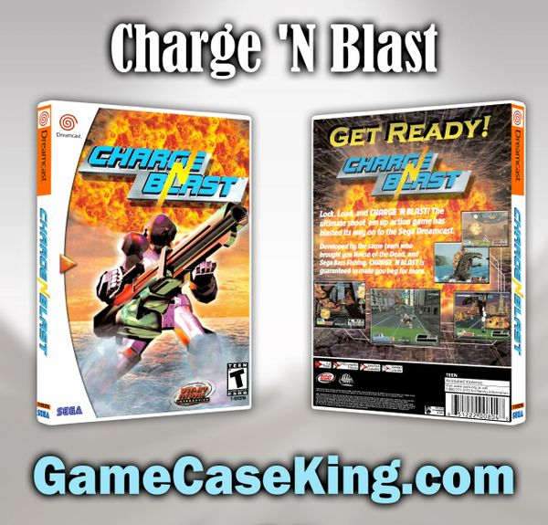 Charge 'N Blast Sega Dreamcast Game Case