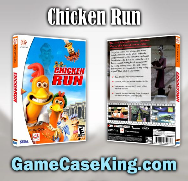 Chicken Run Sega Dreamcast Game Case