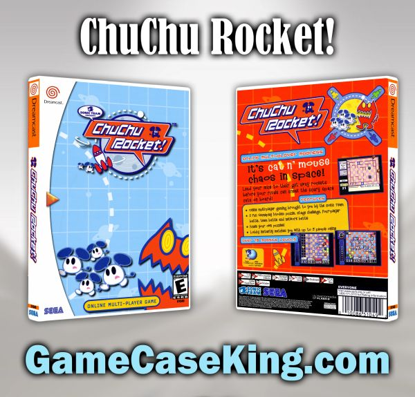 ChuChu Rocket! Sega Dreamcast Game Case