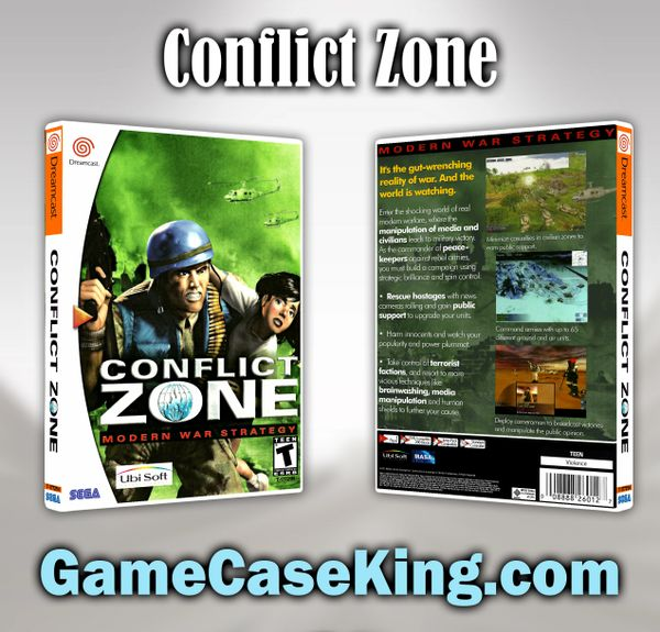 Conflict Zone Sega Dreamcast Game Case