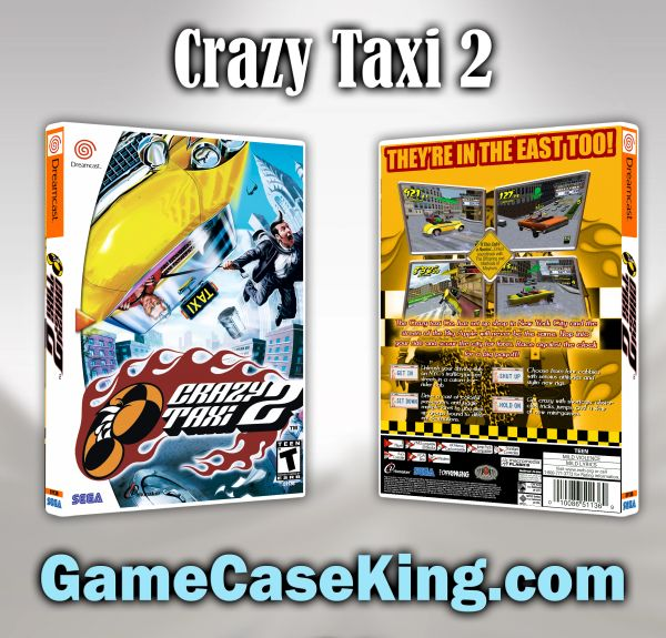 Crazy Taxi 2 Sega Dreamcast Game Case