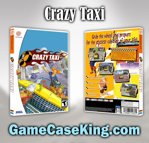 Crazy Taxi Sega Dreamcast Game Case