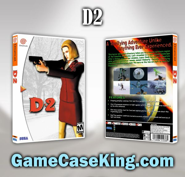 D2 Sega Dreamcast Game Case