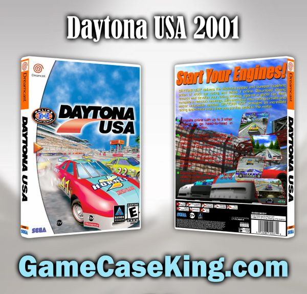 Daytona USA 2001 Sega Dreamcast Game Case