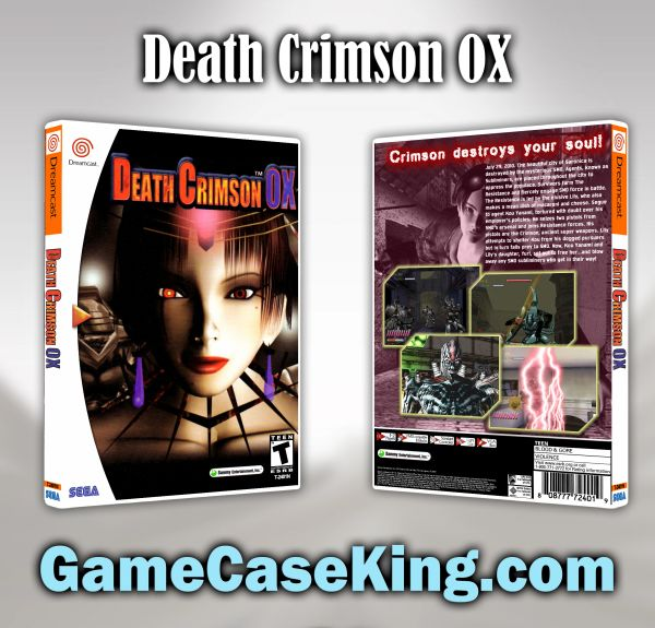 Death Crimson OX Sega Dreamcast Game Case