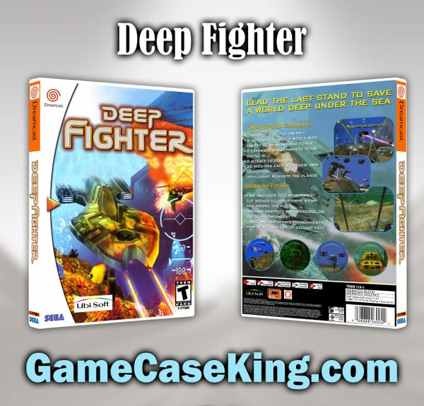 Deep Fighter Sega Dreamcast Game Case