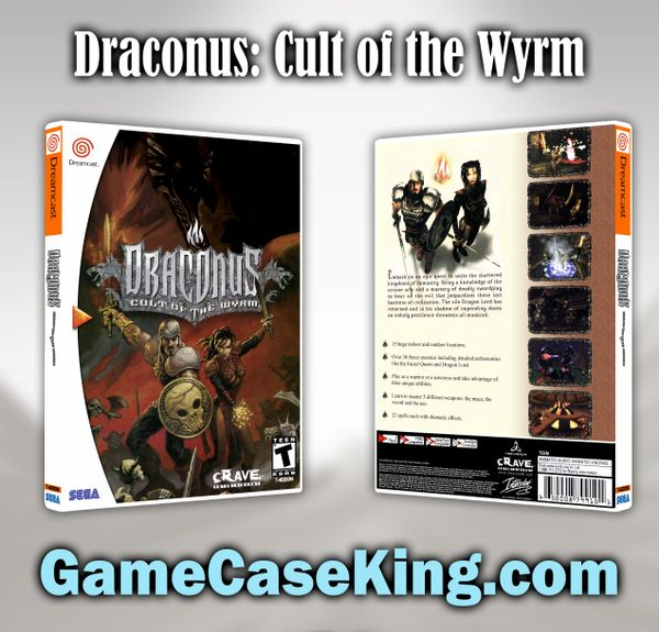 Draconus: Cult of the Wyrm Sega Dreamcast Game Case