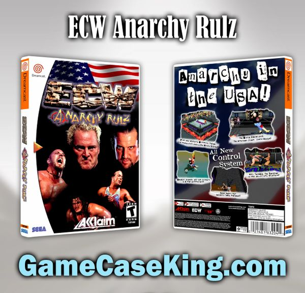 ECW Anarchy Rulz Sega Dreamcast Game Case