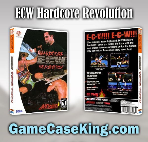 ECW Hardcore Revolution Sega Dreamcast Game Case