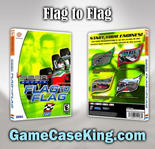 Flag To Flag Sega Dreamcast Game Case